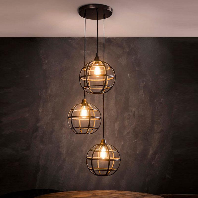 Hanglamp met drie bollen