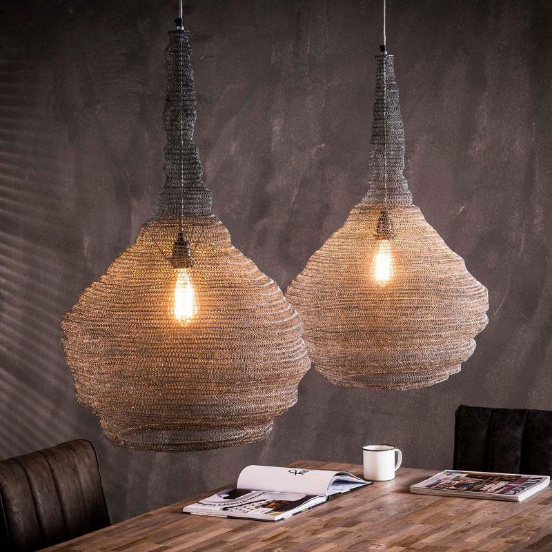 Hanglamp van gaas 2L