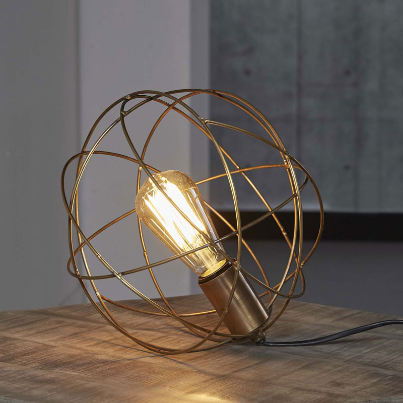 Ronde tafellamp draadstaal