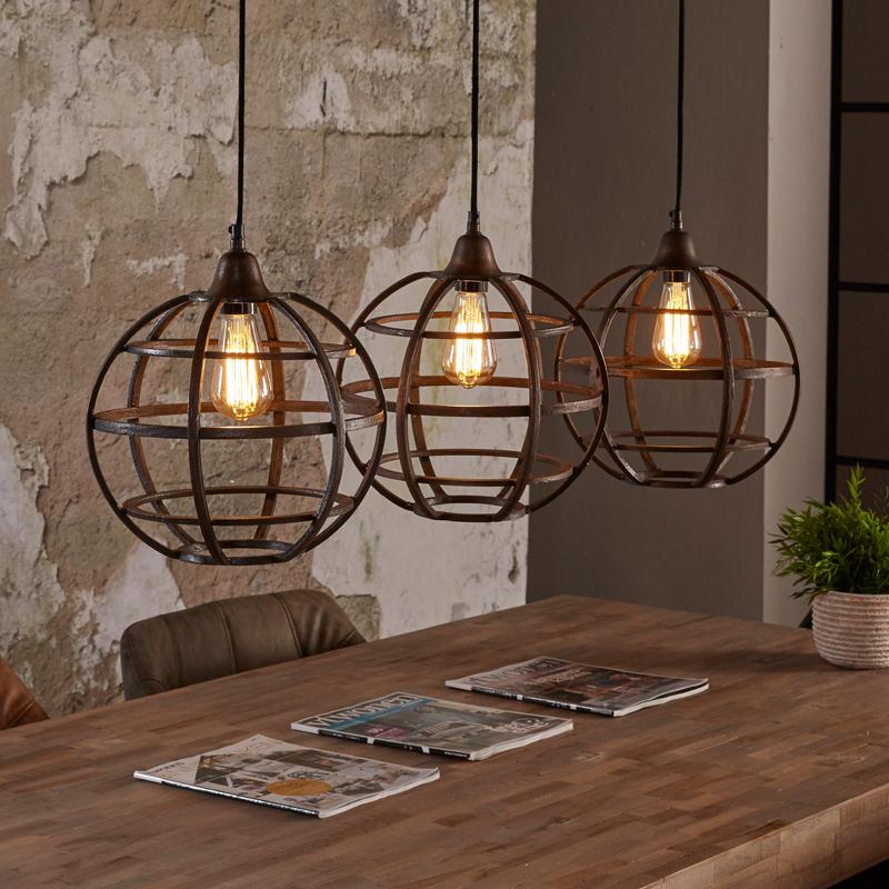 Santa tiego ronde hanglampen van metaal lumz for Lamp industrieel