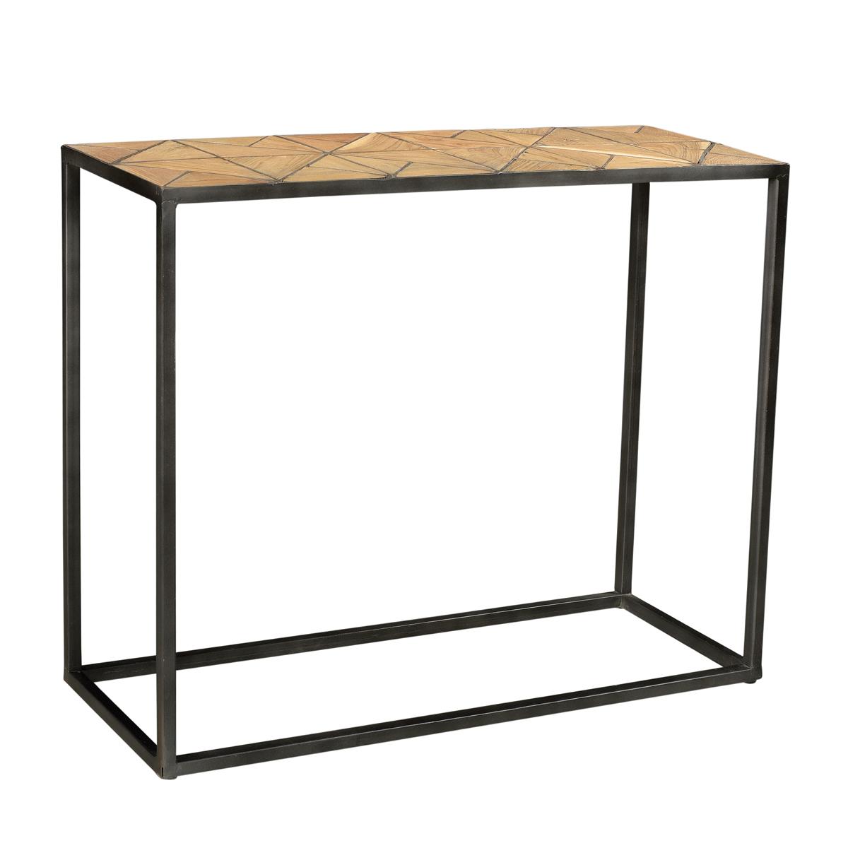 Sidetable met houten inleg