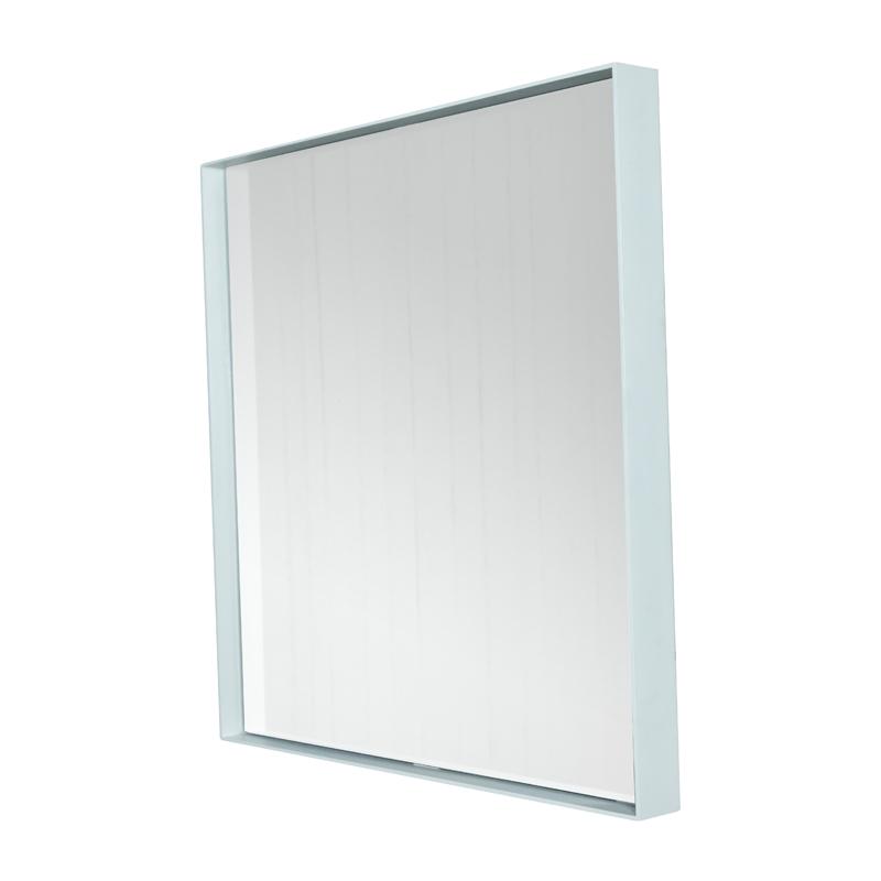Spiegel met stalen rand
