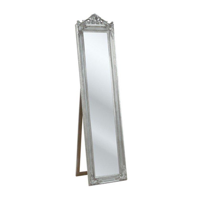 Staande spiegel Baroque zilver