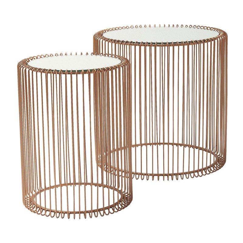 Tafelset spiegelglas Wire Copper