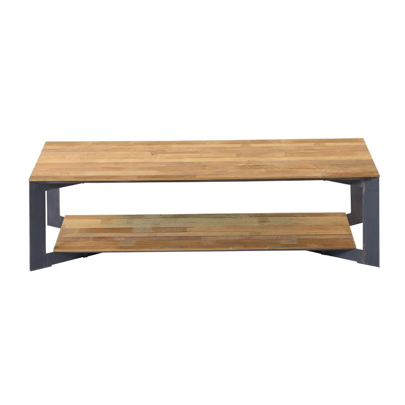 Salontafel metaal met hout