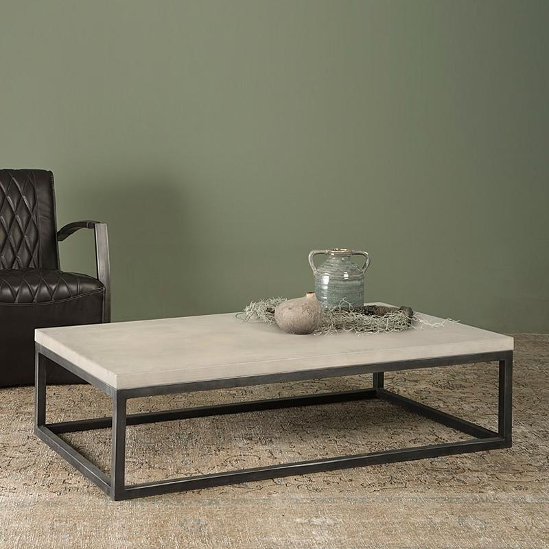 Salontafel beton blad 135x75cm