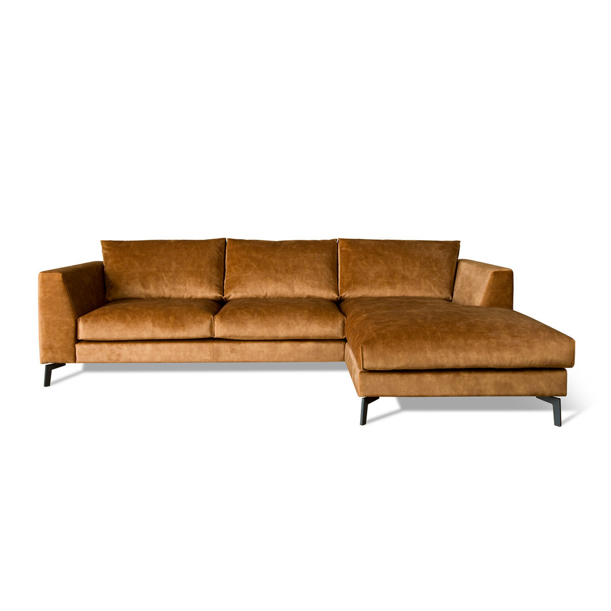 Fluwelen bank chaise longue