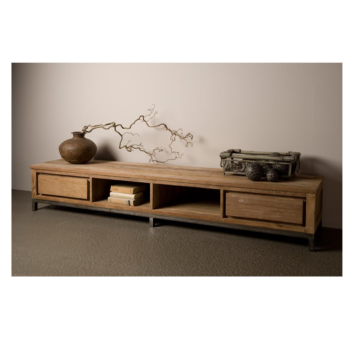 Houten tv-meubel 220 cm