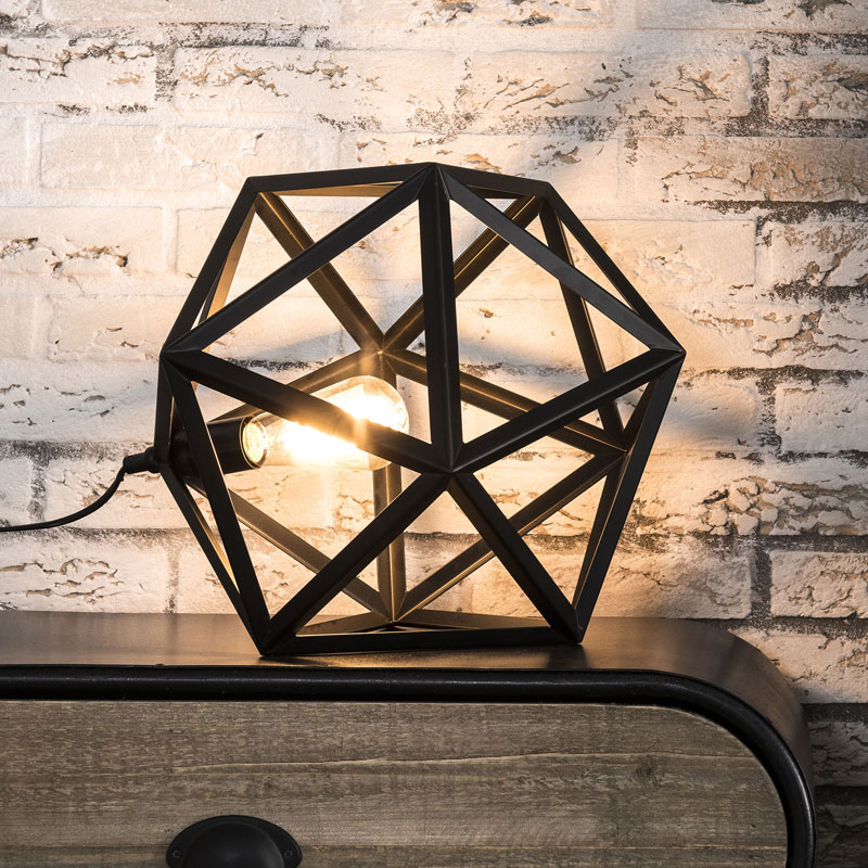 Triangel tafellamp metaal