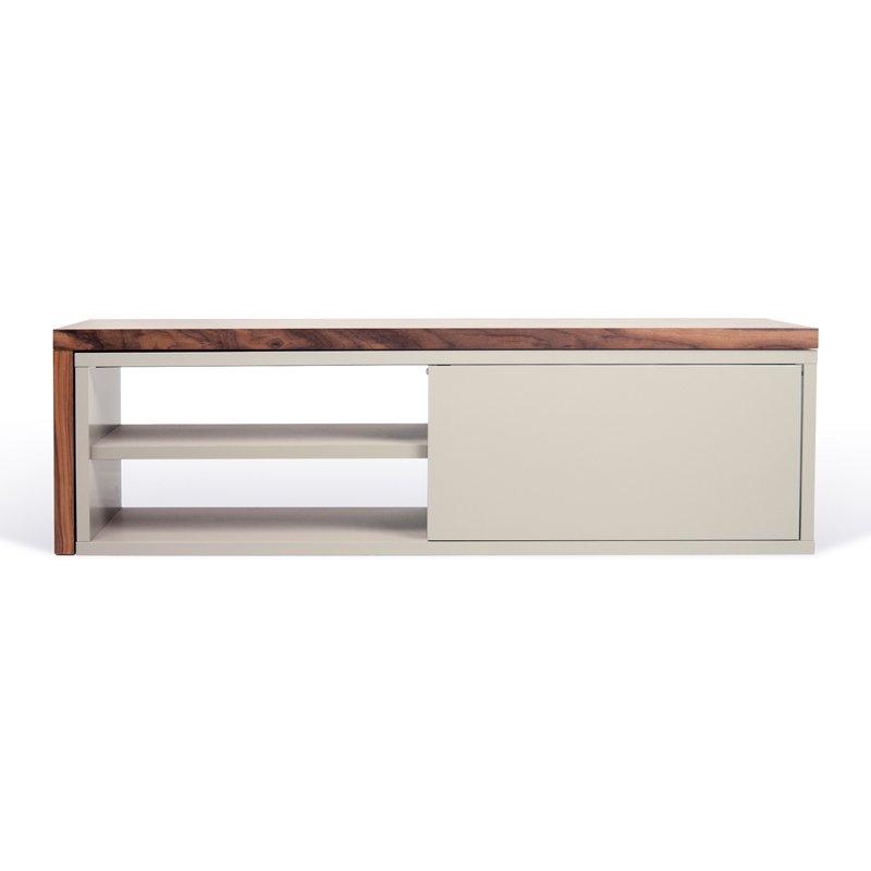 Uitschuifbaar tv-meubel mat grijs