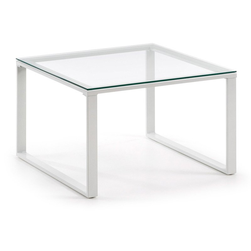 Witte Salon Tafel Met Glas.Kave Home Sivan Navis Witte Salontafel Glas C349c07 Lumz