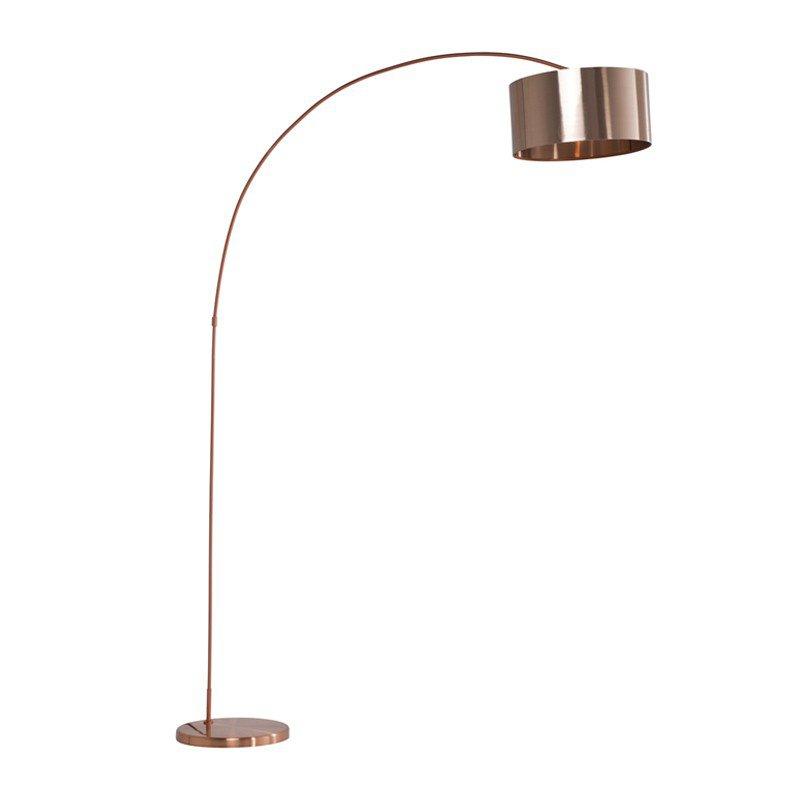Vloerlamp Gooseneck koper