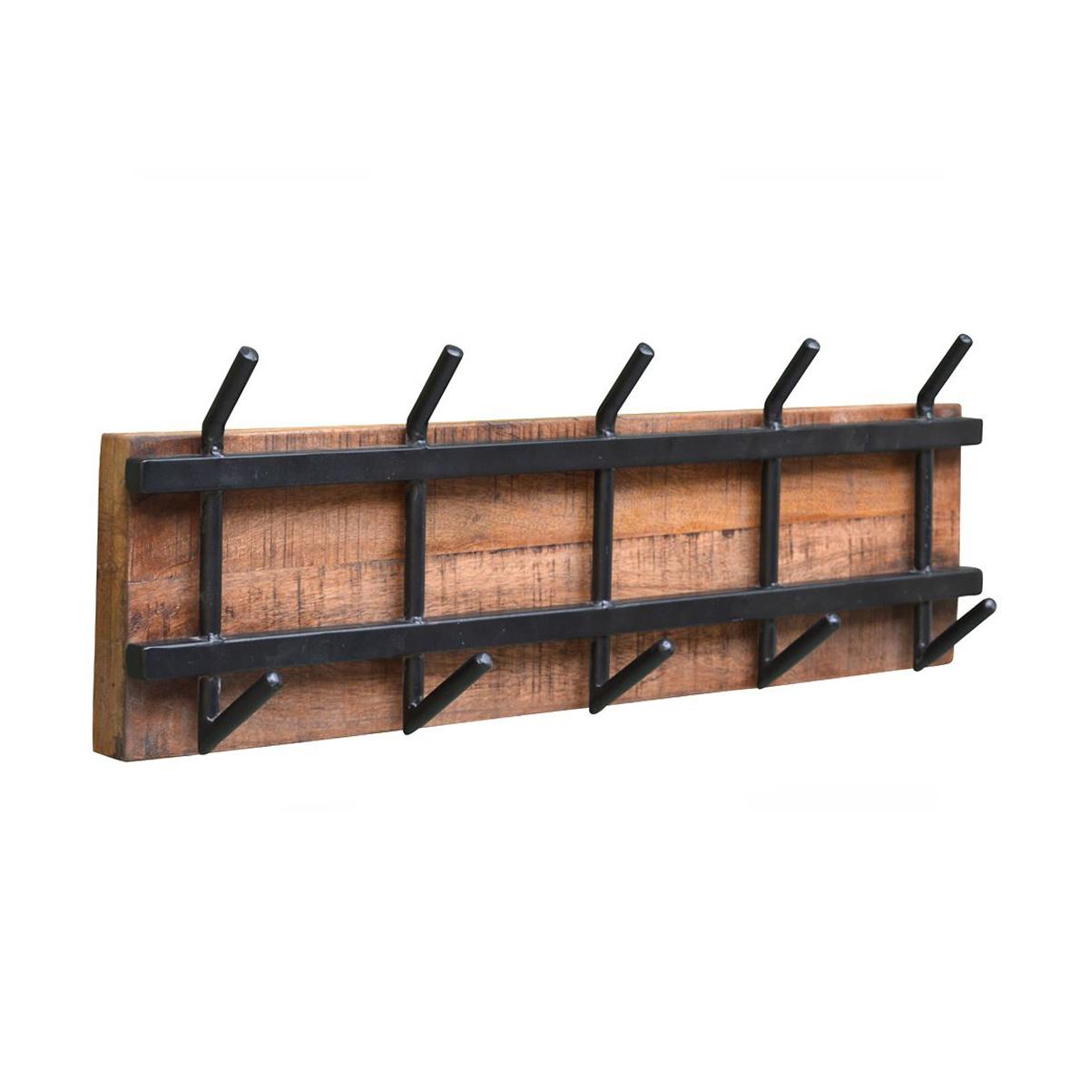 Wandkapstok hout met staal