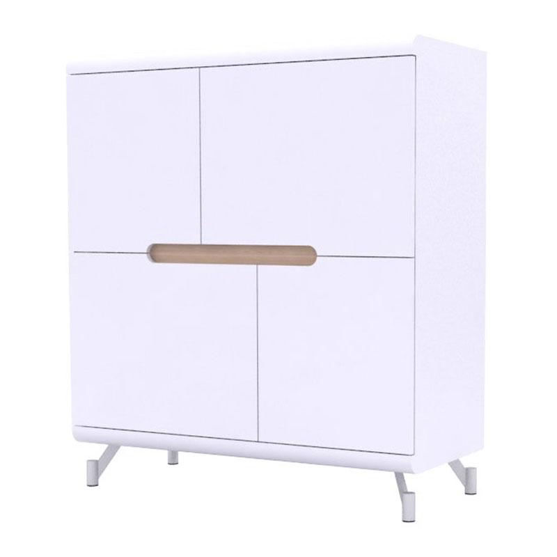 Wandkast 4-deurs wit