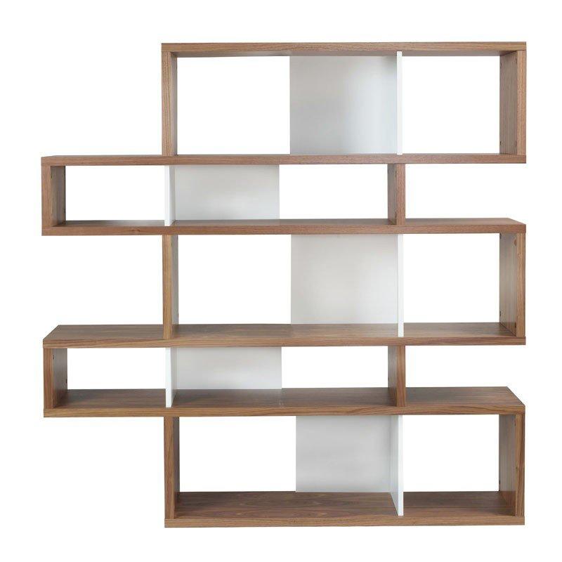 Design boekenkast walnoot 160 cm