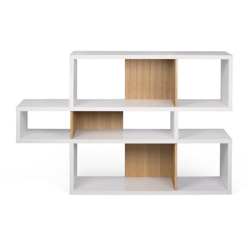 Witte design boekenkast 100 cm
