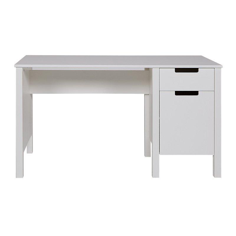 Wit bureau van grenen