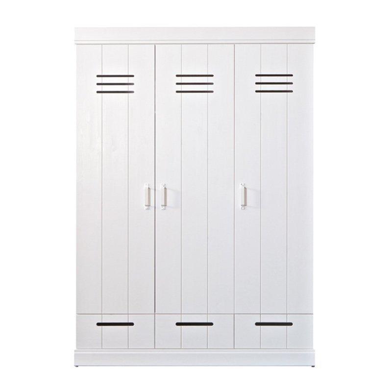 Witte kledingkast locker