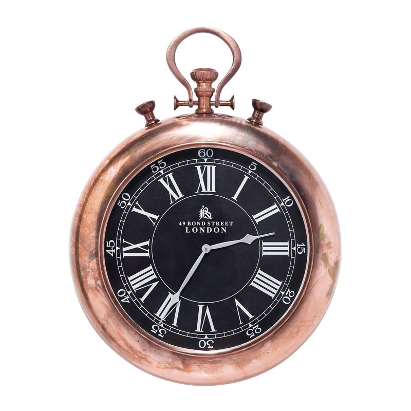 Zakhorloge wandklok Pocket Copper