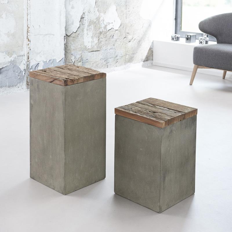 Zuil van beton en hout 45 - Giani Tonzo - LUMZ.nl