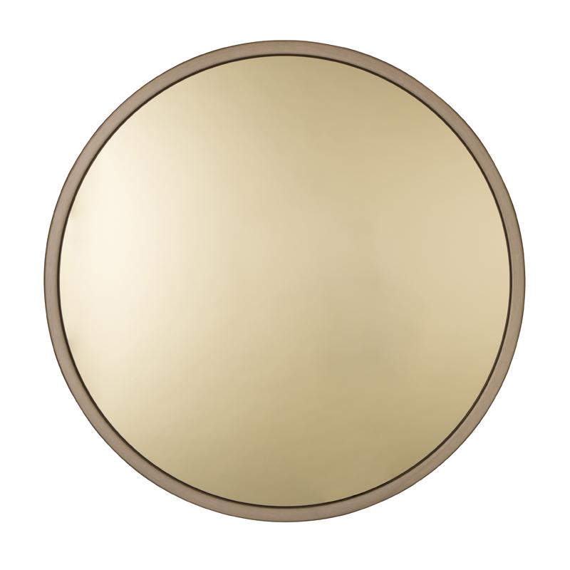 Ronde spiegel van goud