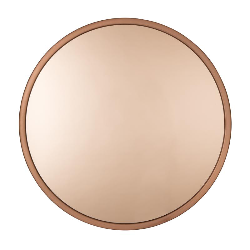 Ronde spiegel van koper