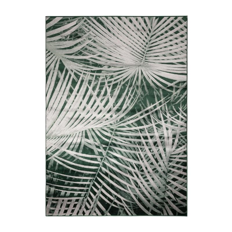 Machine geweven tapijt met bladerenpatroon