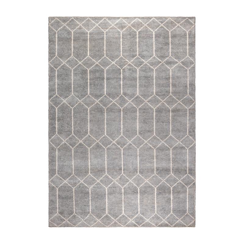 Grijs hand-geweven tapijt
