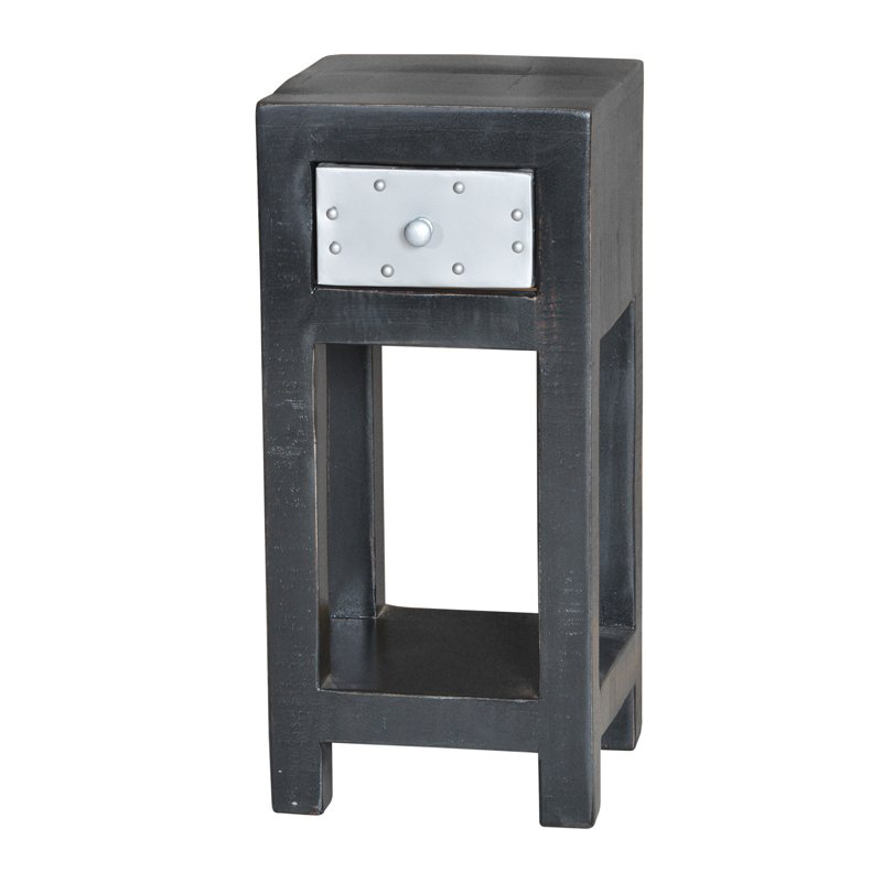 Houten tafeltje zwart 65 cm Lavis Mavas