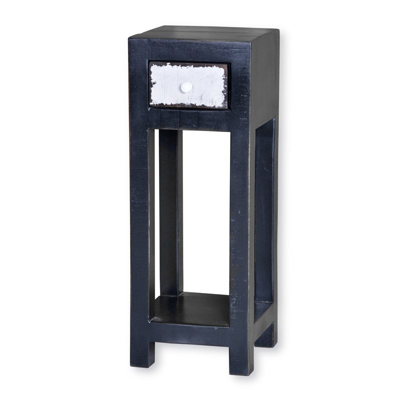 Houten tafeltje zwart 80 cm Lavis Mavas