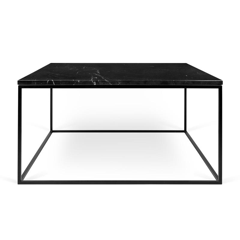 Vierkante Zwarte Salontafel.Zwarte Salontafel Marmer 75 Cm