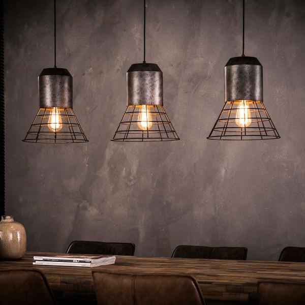 3-lichts metalen hanglamp