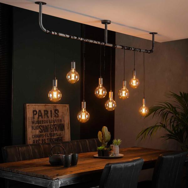 Industriële hanglamp met 8 fittingen