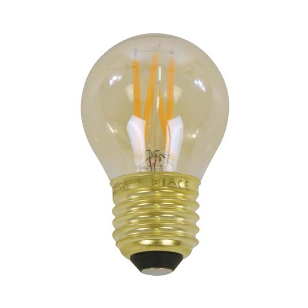 Amberkleurige LED filament bol