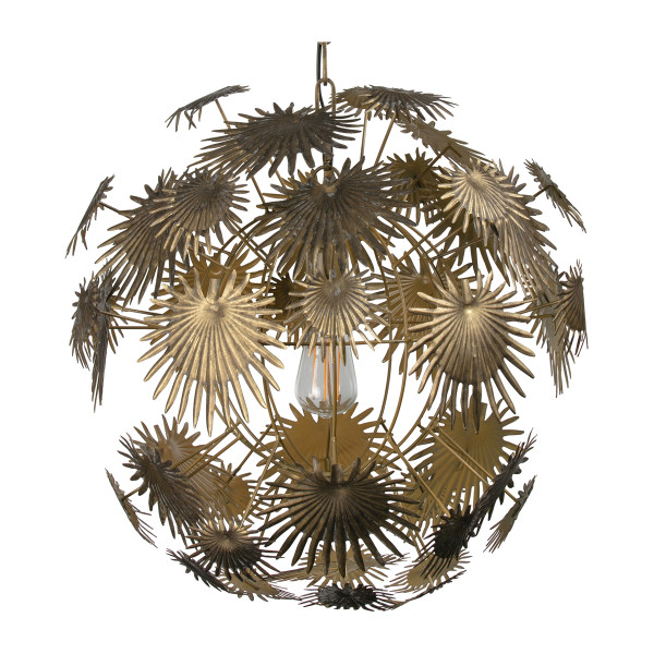 Hanglamp messing palmbladeren