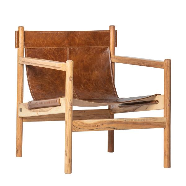 Echt lederen fauteuil