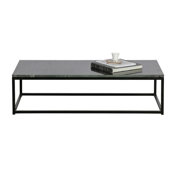 Rechthoekige salontafel zwart marmer