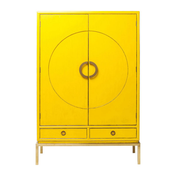 Wandkast geel met goud