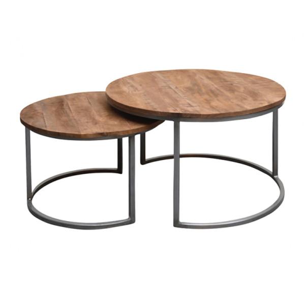 Industriele salontafelset 2 st