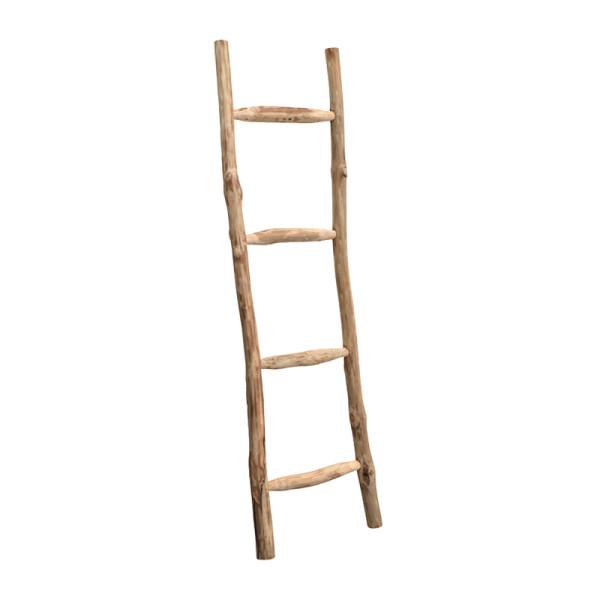 Teakhouten decoratieve ladder
