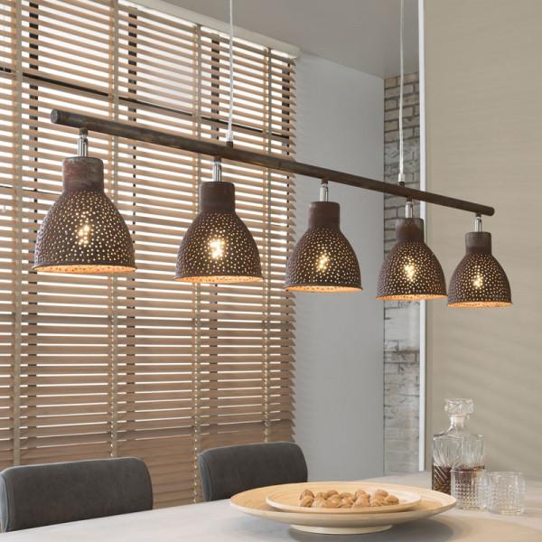 Bruine design hanglamp