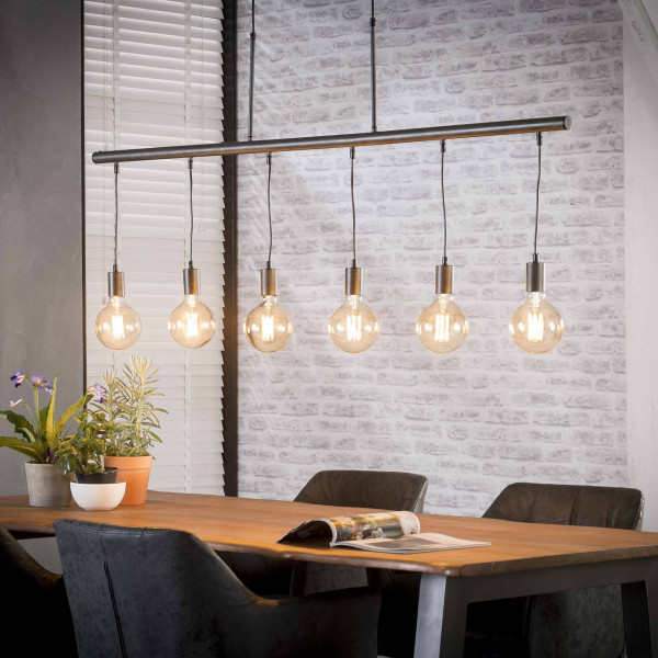 Buishanglamp met 6 lampen