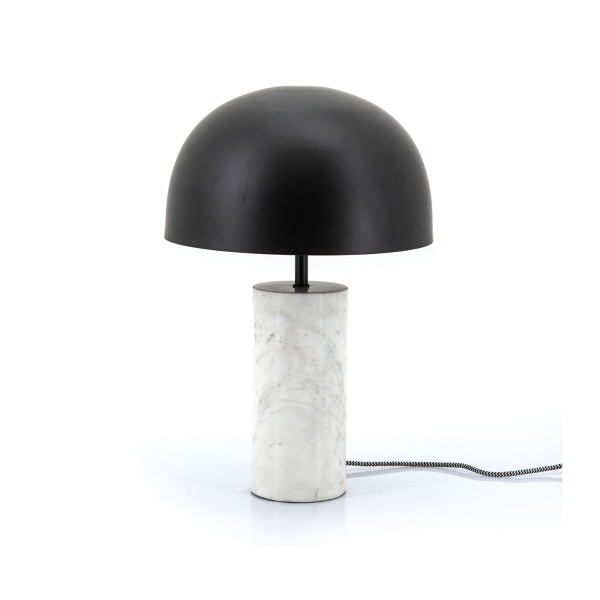 Wit marmeren tafellamp