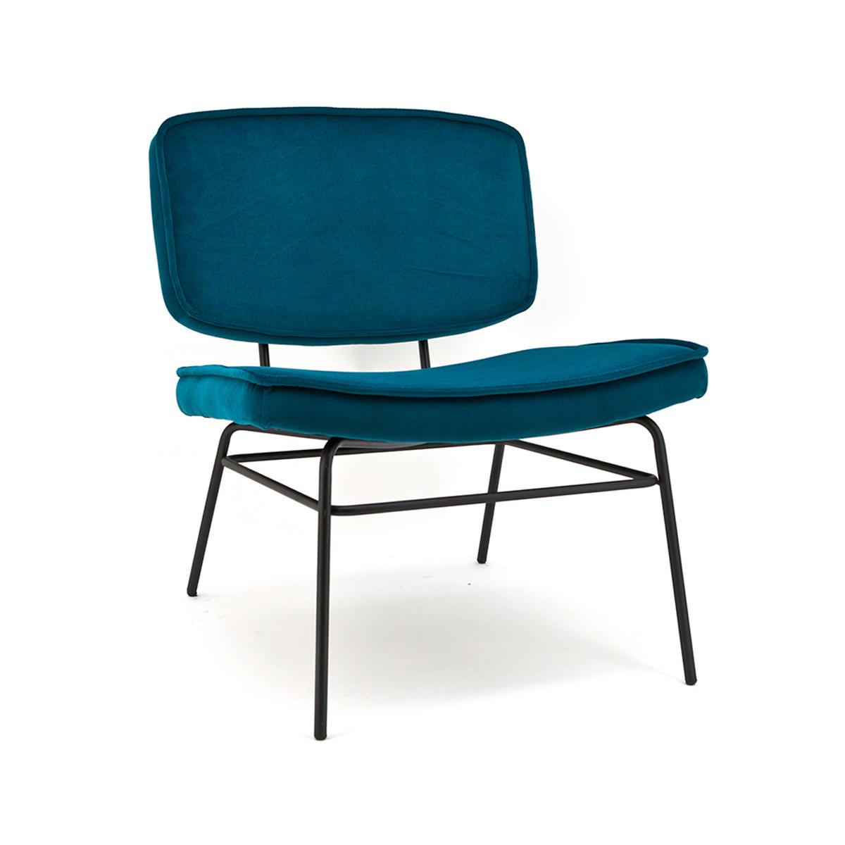 Retro lounge stoel velours