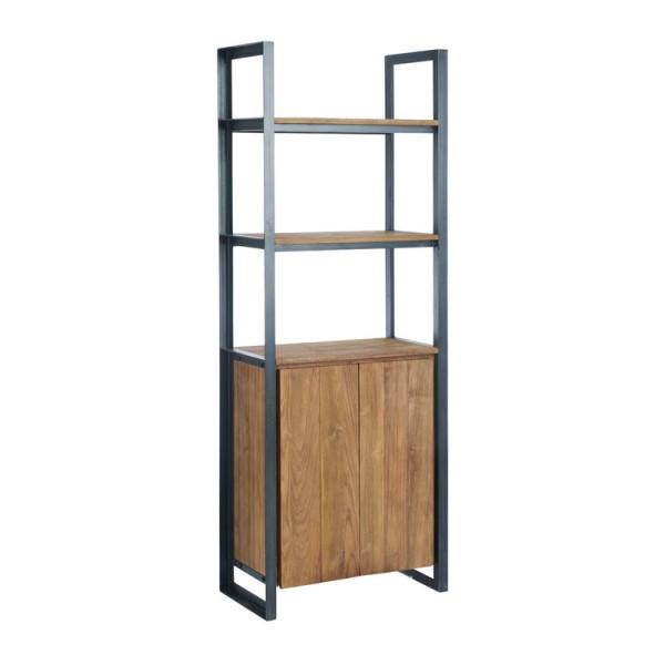 Industriele boekenkast van hout