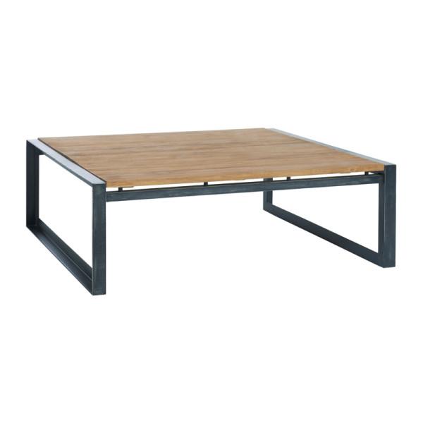 Vierkante salontafel van hout 100 cm