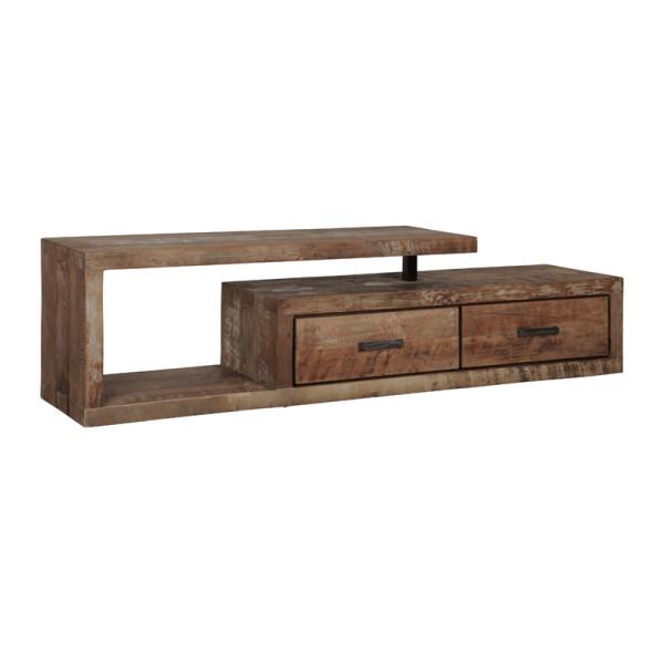 Teakhouten tv-meubel inclusief 2 lades