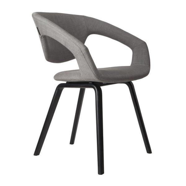 Design stoel met zwarte poot