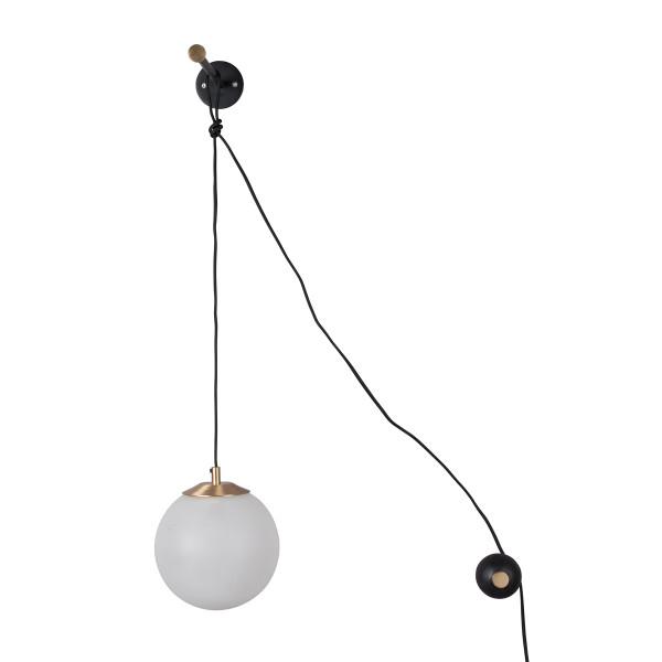 Design wandlamp matglas