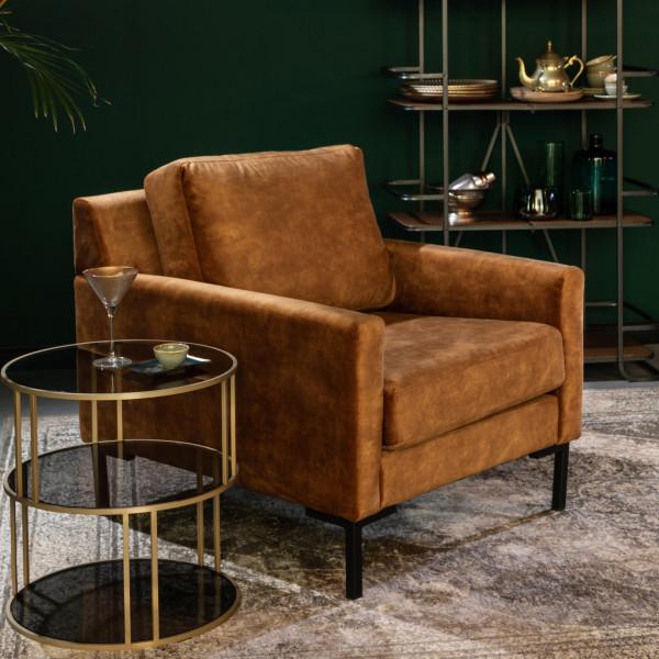 Vintage velvet fauteuil